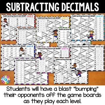 BUMP! Subtracting Decimals Games: Decimal Subtraction {5.NBT.7, 6.NS.3}