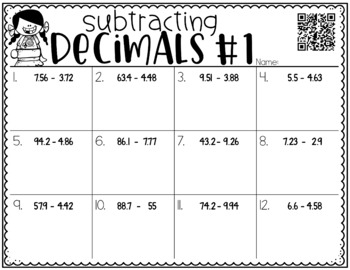 Subtracting Decimals {a Problem of the Day Intervention}