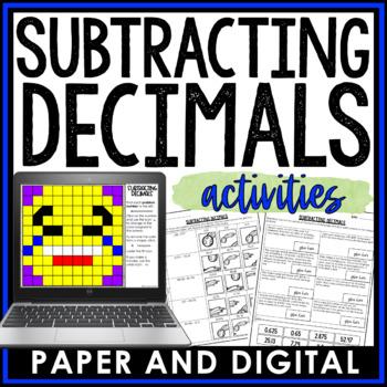 Subtracting Decimals Activity Pack