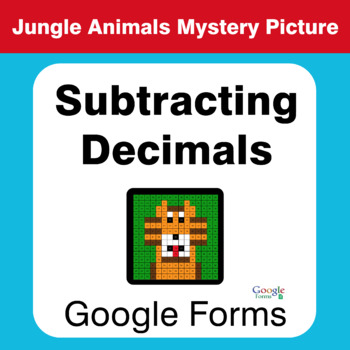 Subtracting Decimals - Animals Mystery Picture - Google Forms