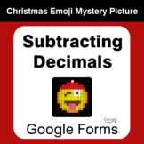 Subtracting Decimals - Christmas EMOJI Mystery Picture - G