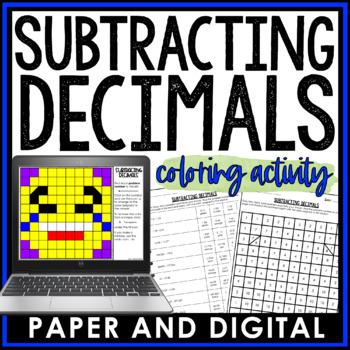 Subtracting Decimals Coloring Activity