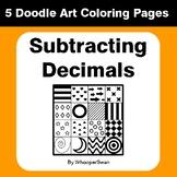 Subtracting Decimals - Coloring Pages | Doodle Art Math
