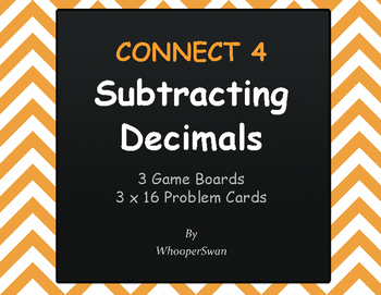 Subtracting Decimals - Connect 4 Game