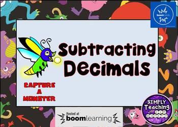 Subtracting Decimals Digital Boom Cards Eureka Math Grade 5 unit 1 lesson 10