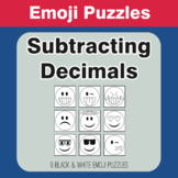 Subtracting Decimals - Emoji Picture Puzzles