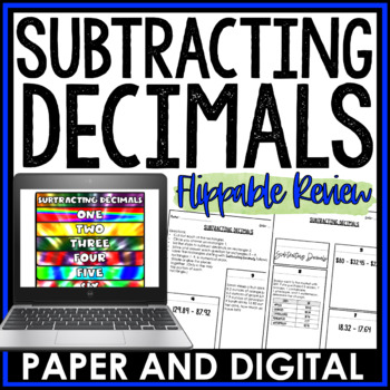 Subtracting Decimals Flippable Review 6.NS.B.3