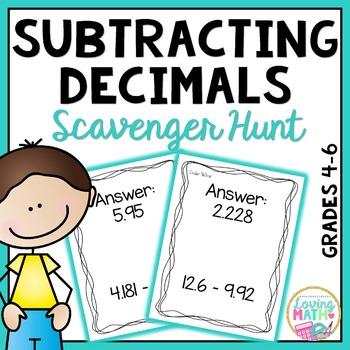 Subtracting Decimals Game