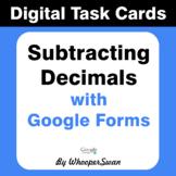 Subtracting Decimals - Interactive Digital Task Cards - Go