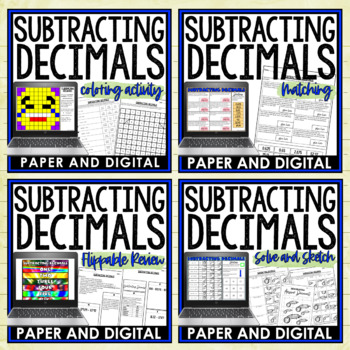 Subtracting Decimals Lesson Bundle