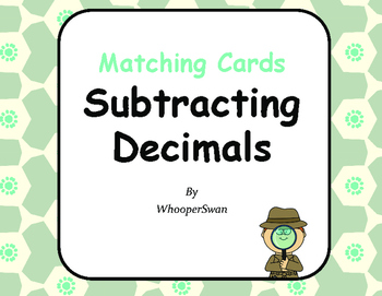 Subtracting Decimals Matching Cards