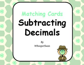 Subtracting Decimals Matching Cards