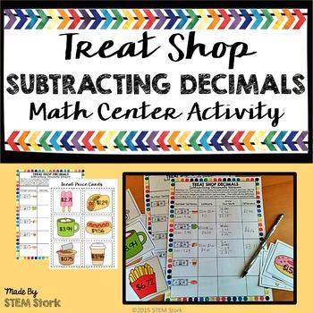 Subtracting Decimals Math Center Activity