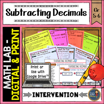 Subtracting Decimals Math Lab Intervention