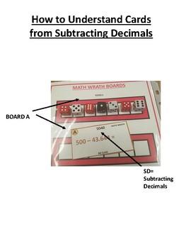 Subtracting Decimals Math Wrath Game
