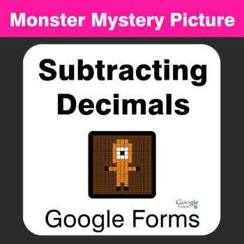 Subtracting Decimals - Monster Mystery Picture - Google Forms