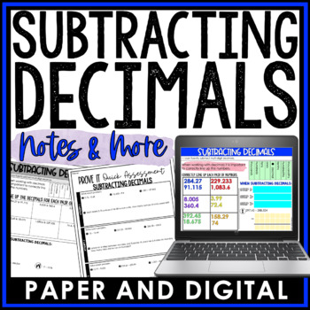 Subtracting Decimals Notes and Such 6.NS.B.3