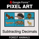 Subtracting Decimals - Pixel Art Math   Google Forms