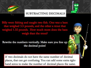 Subtracting Decimals Power Point
