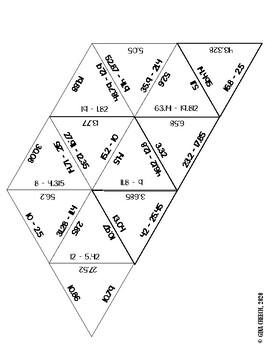 Subtracting Decimals Puzzle