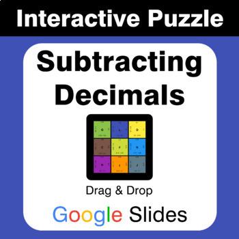 Subtracting Decimals - Puzzles with GOOGLE Slides