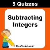 Subtracting Decimals Quiz - Test - Assessment - Worksheets