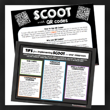 Subtracting Decimals SCOOT activity - with AND without QR Codes!