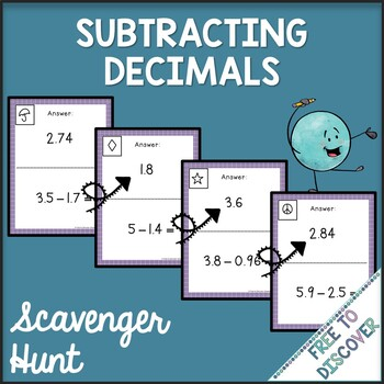 Subtracting Decimals Activity - Scavenger Hunt