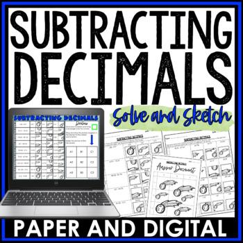 Subtracting Decimals Solve and Sketch