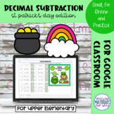 Subtracting Decimals | St Patricks Mystery Picture