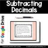 Subtracting Decimals Task Cards | Google Drive for Distanc