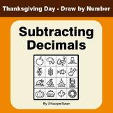 Thanksgiving Math: Subtracting Decimals - Math & Art - Dra