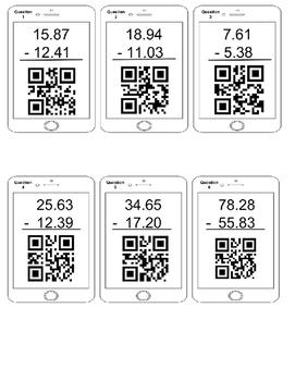 Subtracting Decimals Using QR Codes