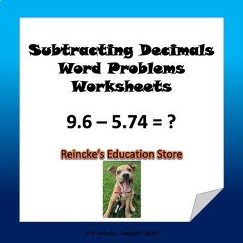 Subtracting decimals word problems 3 worksheets by reinckes subtracting decimals word problems 3 worksheets ibookread PDF