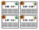 Subtracting Decimals using Models Task Cards
