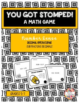 Subtracting Decimals - You Got Crushed - Math Game