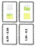 Subtracting Decimals with Models Task Cards