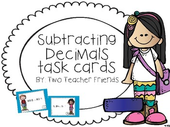 Subtracting Decimals Task Cards {with regrouping}