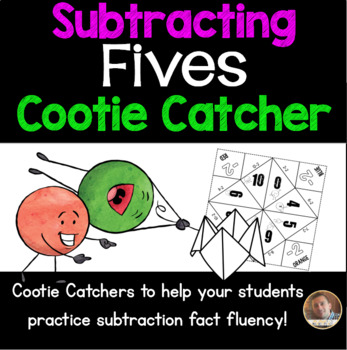 Subtracting FIVES Cootie Catcher/Fortune Teller- Perfect f