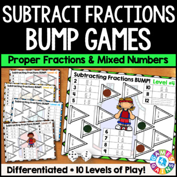 Subtracting Fractions Activity: 10 Subtracting Fractions G