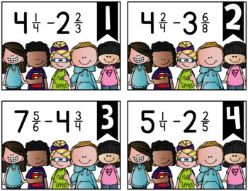 Subtracting Mixed Numbers {a Problem of the Day Intervention}