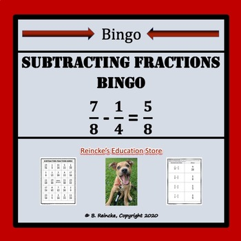 Subtracting Fractions Bingo (30 pre-made cards!)