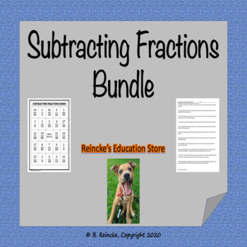 Subtracting Fractions Bundle (4 products in 1)