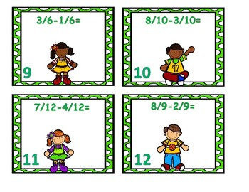 Subtracting Fractions Center