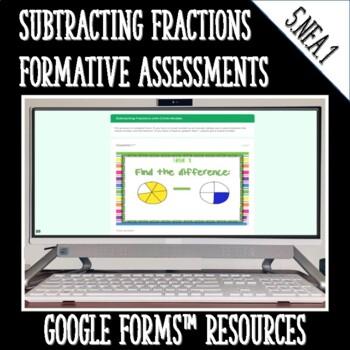 Subtracting Fractions DIGITAL TASK CARDS Google Classroom