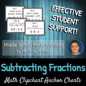 Step-by-Step Subtracting Fractions DIY CLIPCHART