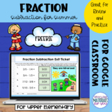 Subtracting Fractions | Summer Mystery Picture