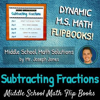 Subtracting Fractions Flip Book