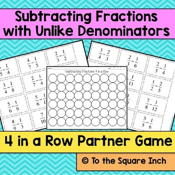 Subtracting Fractions Game