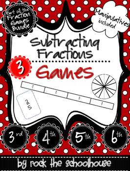Subtracting Fractions Games